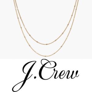 J. Crew delicate two-layered chain necklace